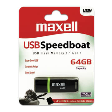 Maxell Speedboat 64GB Pendrive USB 3.1 - 855044.00.TW