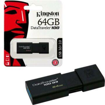 Kingston DataTraveler 100 G3 64GB Pendrive USB 3.0 (DT100G3/64GB) - DT100G3_64GB