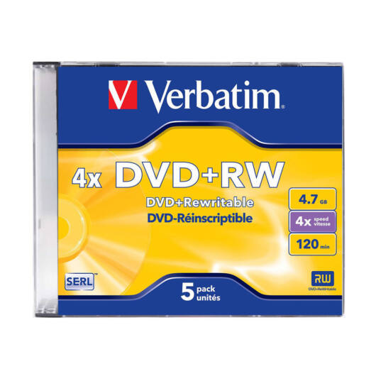 Verbatim DVD+RW 4X Jwc - 43229