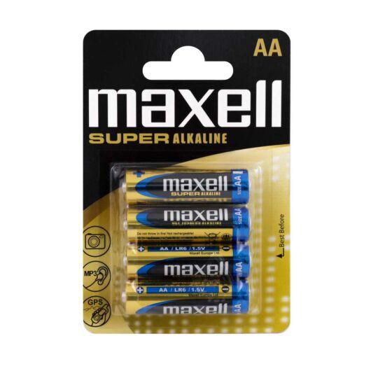 Maxell Super Alkáli AA Elem LR06 [4 Blister]