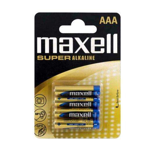 Maxell Super Alkáli AAA Elem LR03 [4 Blister]