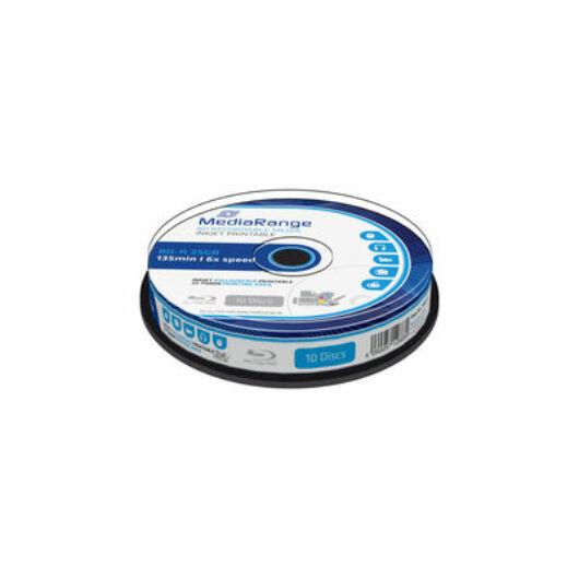 Mediarange BD-R 25 gB 6X Nyomtatható Felületű Blu-Ray Lemez - Cake (10) - MR500