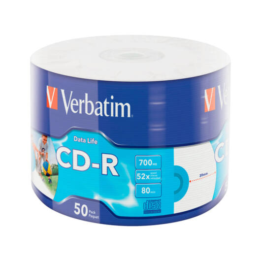 Verbatim CD-R 52X Lemez - Shrink (50) - 43787