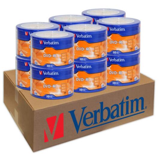 Verbatim DVD-R 16X Lemez - Shrink (50) 12db-os CSOMAG!