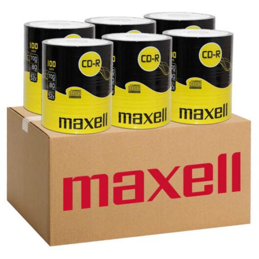 Maxell CD-R 52X Lemez - Shrink (100) 6db-os CSOMAG!