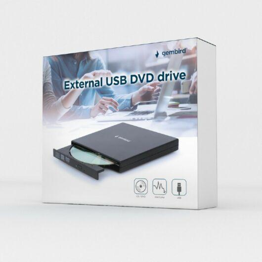 DVD-USB-02 Gembird Slim külső USB 2.0 DVD író meghajtó