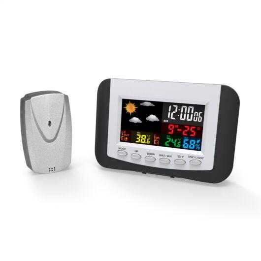 Omega Vezeték Nélküli Időjárás Állomás Színes LCD-vel 43970
