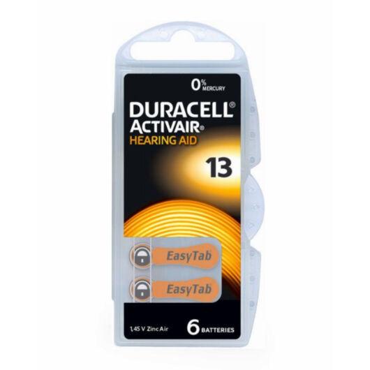 DA13N6 Duracell DA13N6 Hallókészülék elem Zinc Air 1.45V 6db/csomag