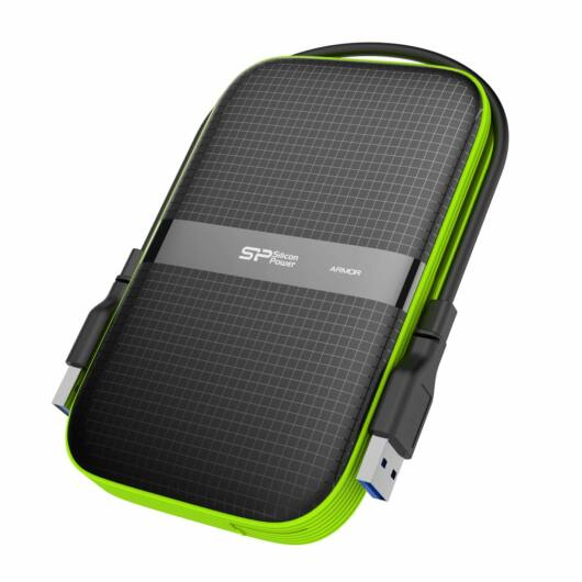 """SP010TBPHDA60S3K Silicon Power Armor A60 1TB Külső Merevlemez [2,5"""", USB 3.1] IPX4"""