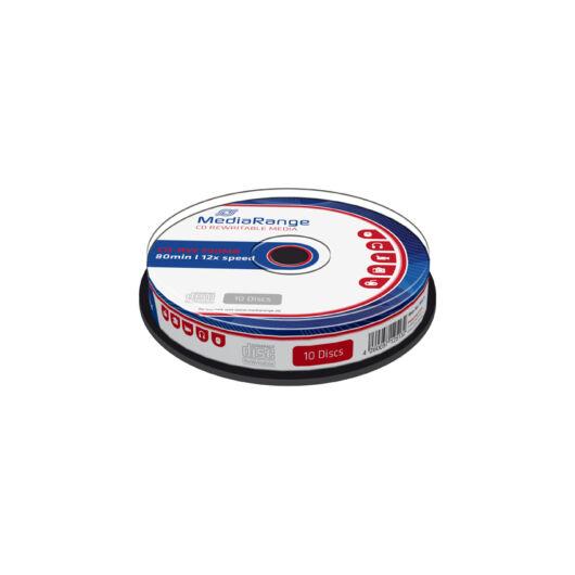 Mediarange CD-RW 700 Mb 12X Lemez - Cake (10) - MR235