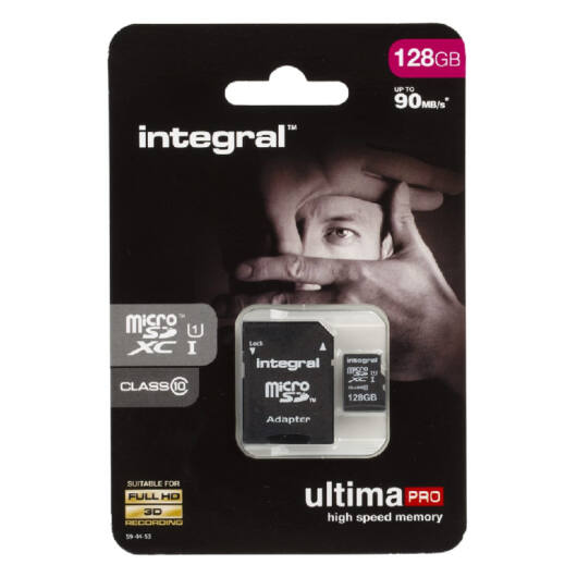Integral Ultima Pro 128GB Micro SDHC memóriakártya 90 MB/s INMSDH16G10-90U1