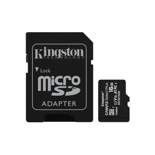 Kingston Canvas Select Plus 16GB microSD memóriakártya + Adapter