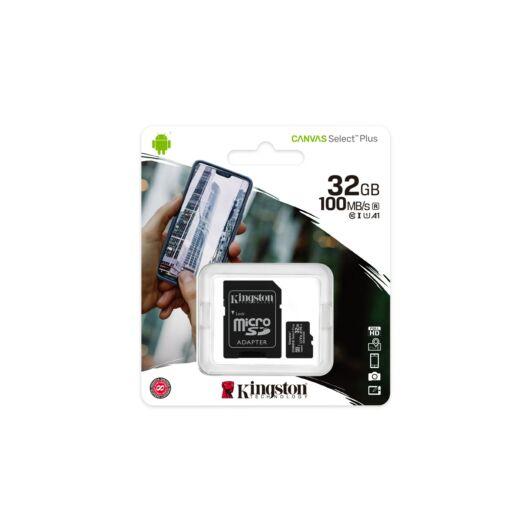 Kingston Canvas Select Plus 32GB microSD memóriakártya + Adapter