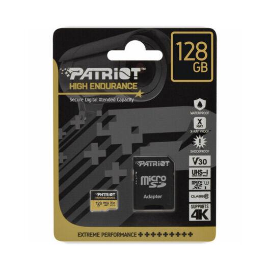 PEF128GE31MCH PATRIOT HIGH ENDURANCE MICRO SDXC 128GB CL10 UHS-I U3 V30 (95 MB/s olvasási sebesség)