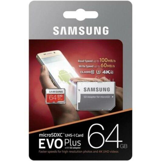 Samsung 64GB Micro SDXC Memóriakártya UHS-I Evo Class 10 + Adapter - MB_MC64GA_EU