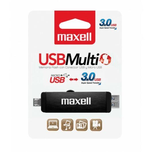 Maxell Multi 16GB Pendrive USB 3.0 + Micro USB OTG - Android Telefonokhoz, Tabletekhez - 854986_00_TW