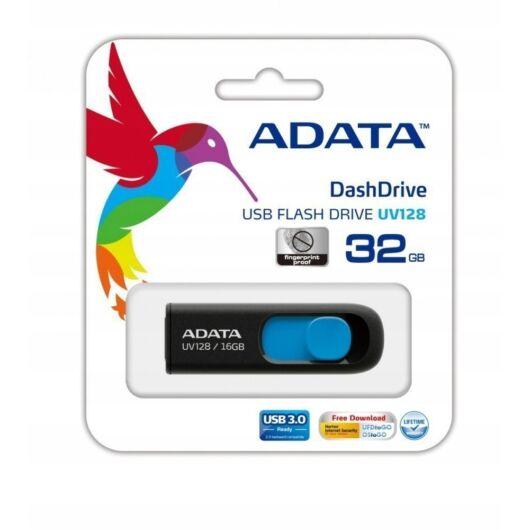 Adata UV128 32GB Pendrive USB 3.0 - Fekete-Kék (AUV128-32G-RBE) - AUV128_32G_RBE