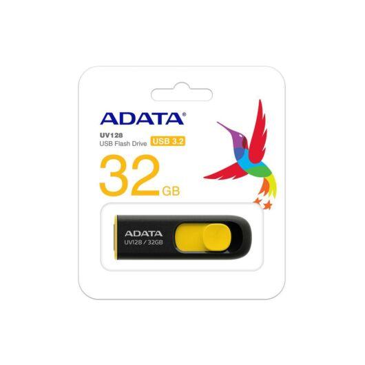 Adata UV128 32GB Pendrive USB 3.0 - Fekete-Sárga (AUV128-32G-RBY) - AUV128_32G_RBY