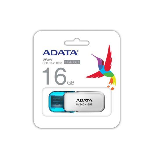 ADATA UV240 16GB Pendrive USB 2.0 - Fehér / kék - AUV240-16G-RWH