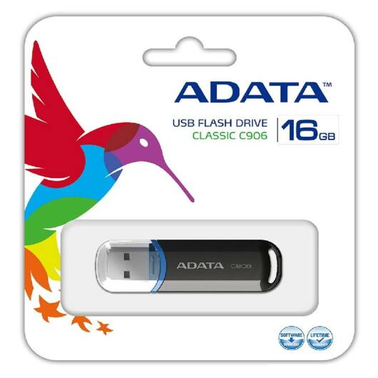 Adata C906 Compact 16GB Pendrive USB 2.0 - Fekete (AC906-16G-RBK) - AC906_16G_RBK
