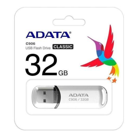 Adata C906 Compact 32GB Pendrive USB 2.0 - Fehér (AC906-32G-RWH) - AC906_32G_RWH