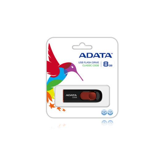 Adata C008 Classic 8GB Pendrive USB 2.0 - Fekete-Piros (AC008-8G-RKD) - AC008_8G_RKD