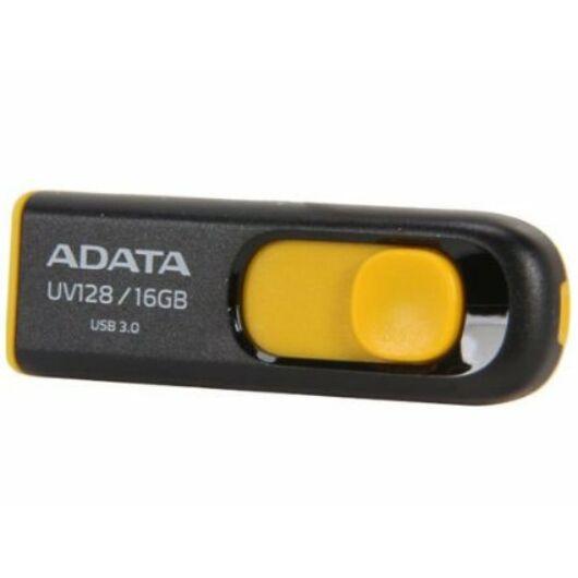 Adata UV128 16GB Pendrive USB 3.0 - Fekete-Sárga (AUV128-16G-RBY) - AUV128_16G_RBY