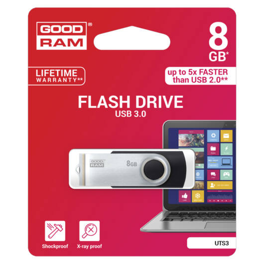Goodram 8GB UTS3 USB 3.0 pendrive - fekete