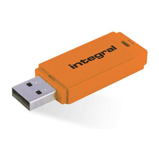 IINFD32GBNEONOR Integral 32GB Neon pendrive, narancssárga [USB 2.0]
