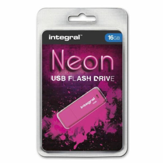 Integral 16GB USB 2.0 pendrive - Neon rózsaszín