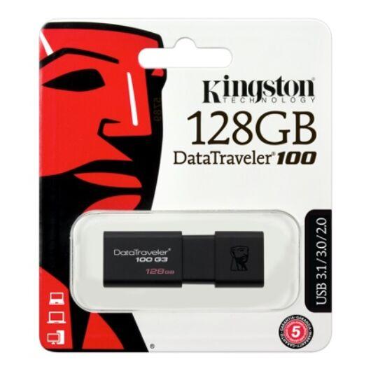Kingston DataTraveler 100 G3 128GB Pendrive USB 3.0 (DT100G3/128GB) - DT100G3_128GB