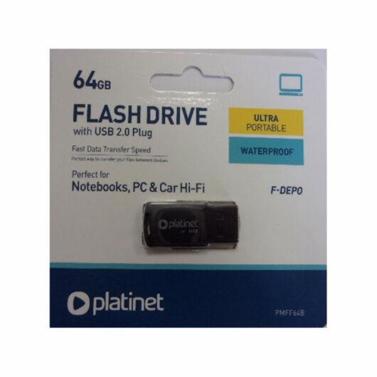 PLATINET F-DEPO PENDRIVE 64GB USB 2.0 Fekete