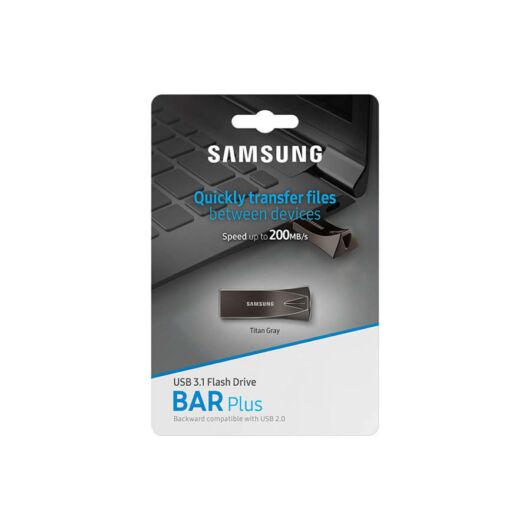 Samsung 128GB Bar Plus USB 3.1 Pendrive - Titán (300MB/s) - MUF-128BE4/EU