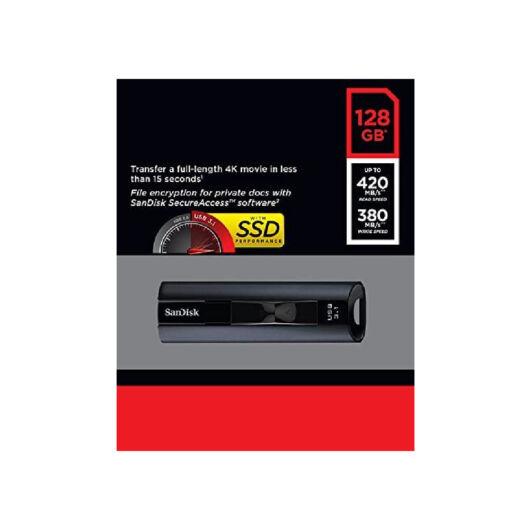 SDCZ880-128G-G46 SanDisk Extreme PRO 128GB USB 3.1 [420/380 MB/s] fekete