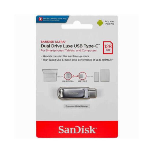 SDDDC4-128G-G46 SANDISK ULTRA DUAL DRIVE LUXE PENDRIVE 128GB USB Type-C Ezüst