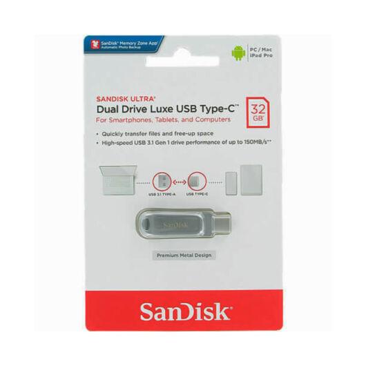 SDDDC4-032G-G46 SANDISK ULTRA DUAL DRIVE LUXE PENDRIVE 32GB USB Type-C