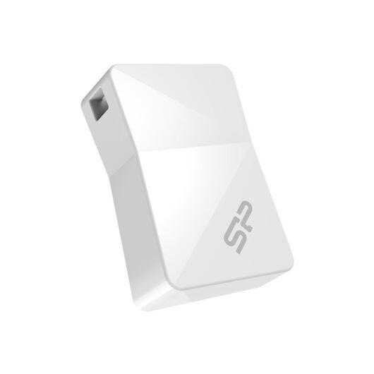 SP016GBUF2T08V1W Silicon Power 16GB Touch Pendrive T08 Mini [USB 2.0] Fehér