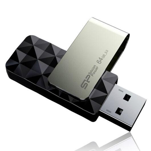 SP064GBUF3B30V1K Silicon Power 64GB Blaze Pendrive B30 [USB 3.0] Fekete