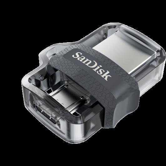 SanDisk Ultra Dual Drive M3.0 16GB Pendrive OTG - USB 3.0 + Micro USB - Android Telefonokhoz, Tabletekhez (SDDD3-016G-G46) - SDDD3_016G_G46