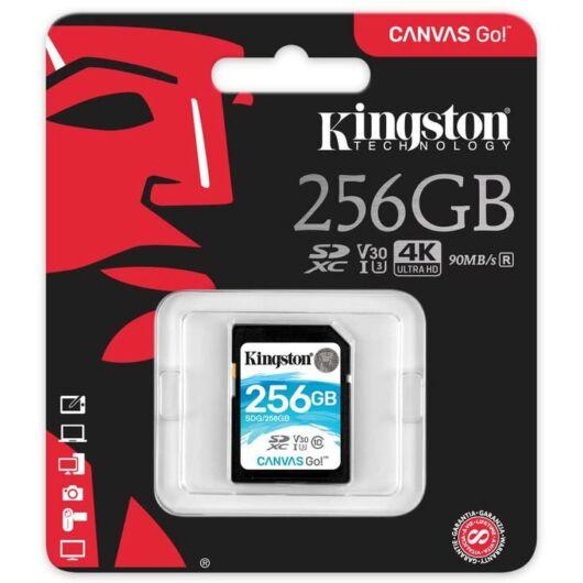 Kingston 256GB Canvas Go SDXC Memóriakártya (90/45 Mb/s) - SDG/256GB