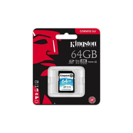 Kingston 64GB Canvas Go SDXC Memóriakártya (90/45 Mb/s) - SDG/64GB