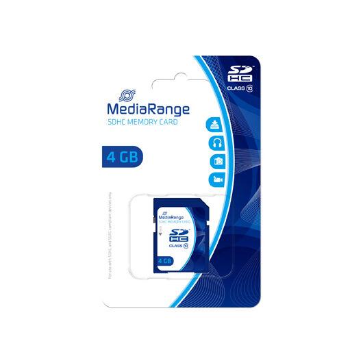 Mediarange 4GB SDHC Memóriakártya Class 10 - MR961