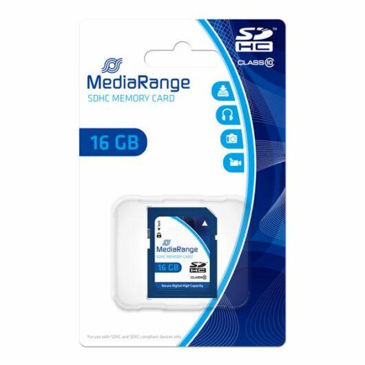 Mediarange 16GB SDHC Memóriakártya Class 10 - MR963