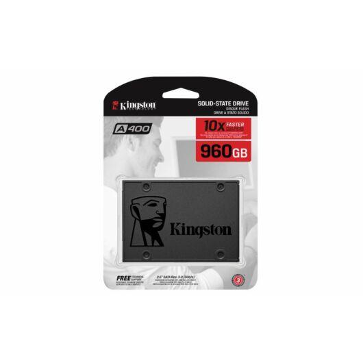 KINGSTON A400 Belső SSD 960GB SATA3 Fekete