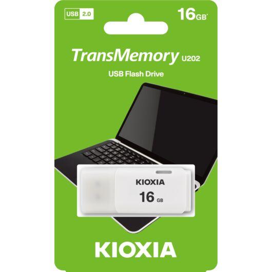 KioxiaPendrive 16GB Hayabusa U202 USB 2.0 Fehér