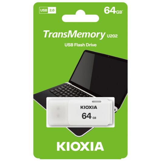 KioxiaPendrive 64GB Hayabusa U202 USB 2.0 Fehér