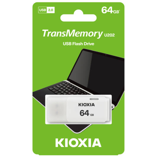 Toshiba (Kioxia)Pendrive 64GB Hayabusa U202 USB 2.0 Fehér