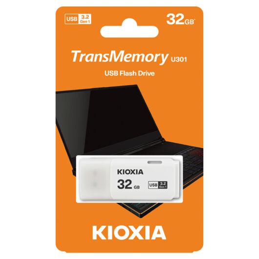 KioxiaPendrive 32GB Hayabusa U301  USB 3.2. gen.1 Fehér