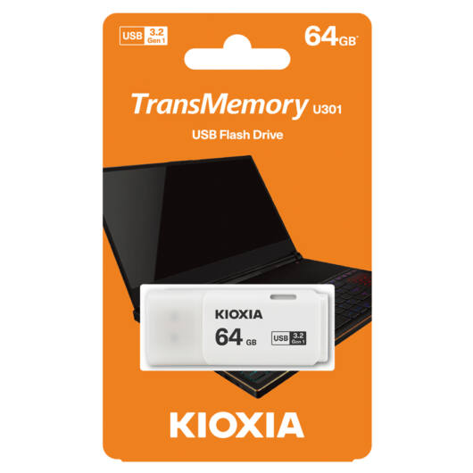 KioxiaPendrive 64GB Hayabusa U301  USB 3.2. gen.1 Fehér