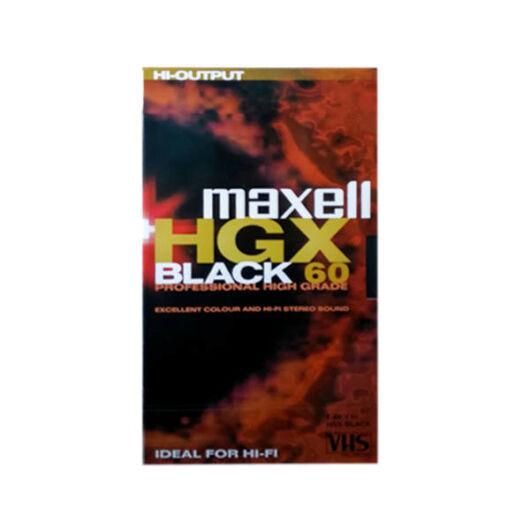 Maxell VHS HGXB Black Kazetta 60perc - 238526.01.EU